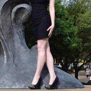 Olsenboye black studded heels!
